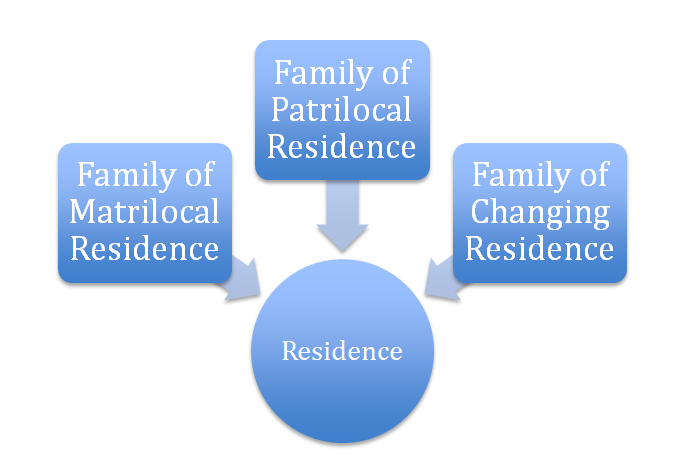 Types of family on the basis of nature of the residence