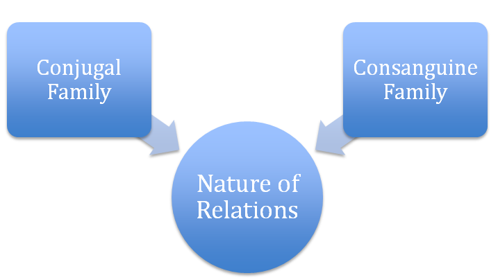 Types of family on the basis of nature of relations among the family members